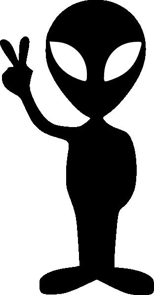 clip art transparent Black clip art at. Alien clipart