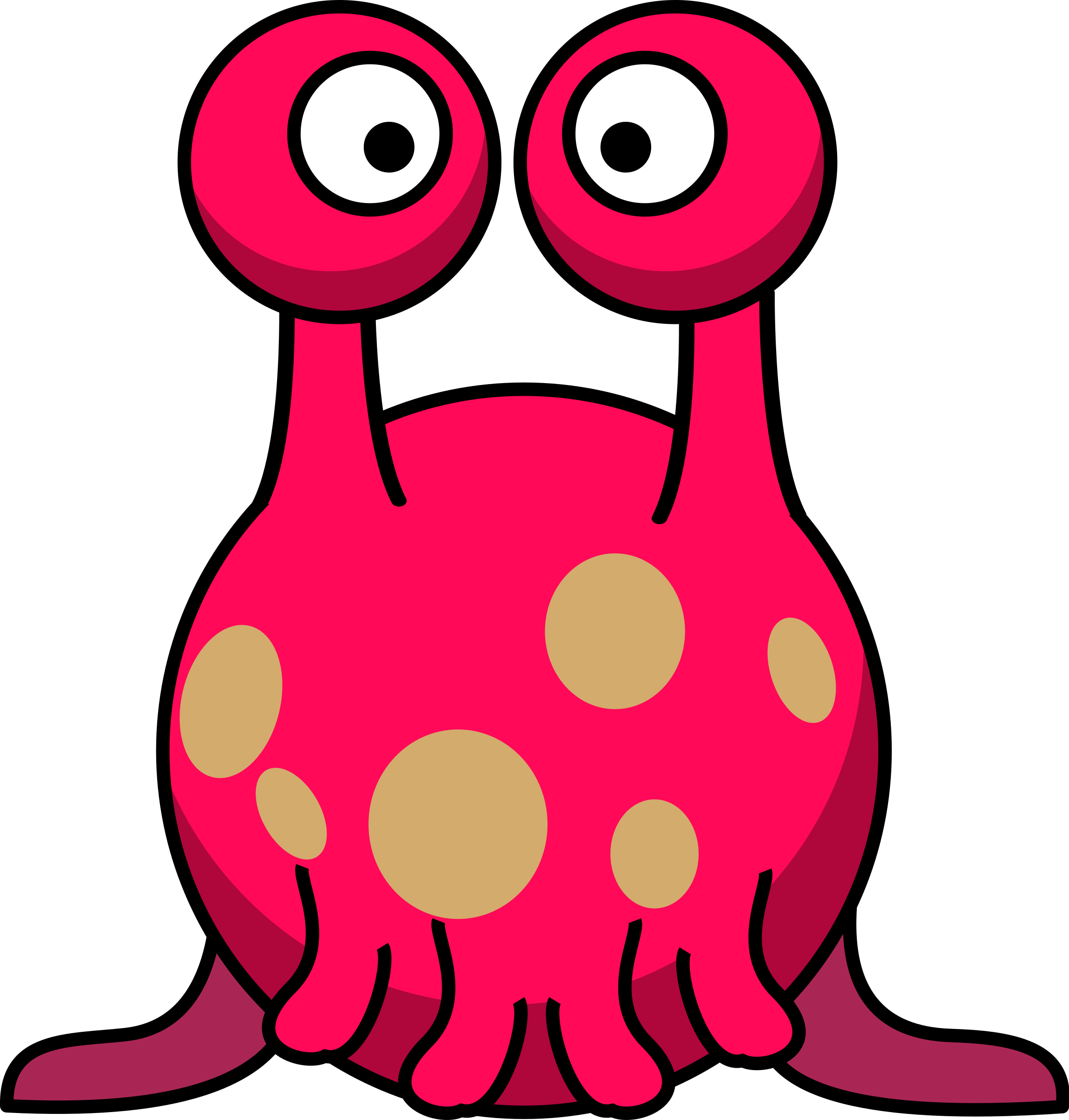 jpg free library Silly alien in the. Aliens clipart