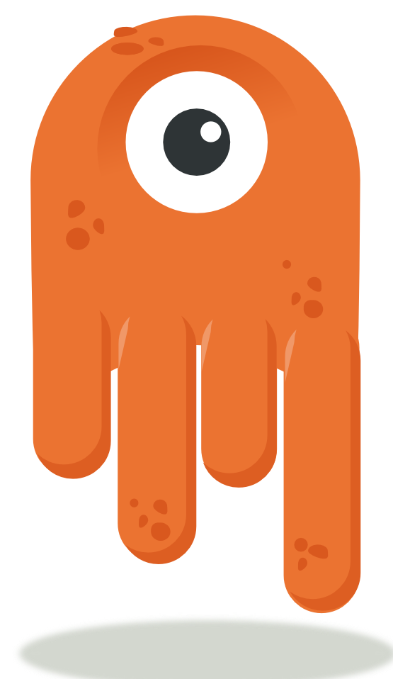 svg freeuse download Oneeyed alien mascot. Aliens clipart fluffy