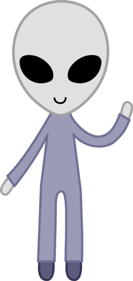 clipart free stock Free clip art of a cute friendly gray space alien