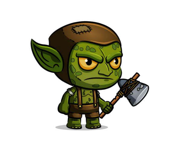graphic free stock The purple skin alien. Aliens clipart goblin