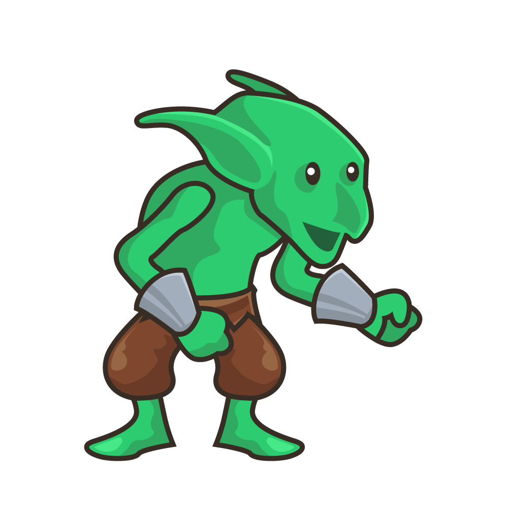 clip art library Green with wrist bracers. Aliens clipart goblin