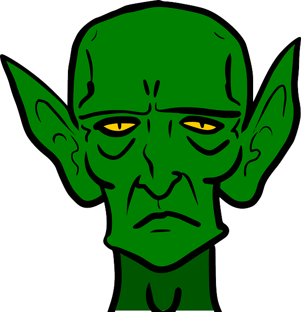 banner stock Aliens clipart goblin. Scary ear clip art