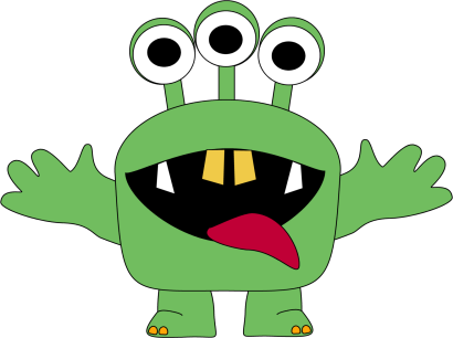 svg freeuse Monster for kids clip. Aliens clipart three eyed