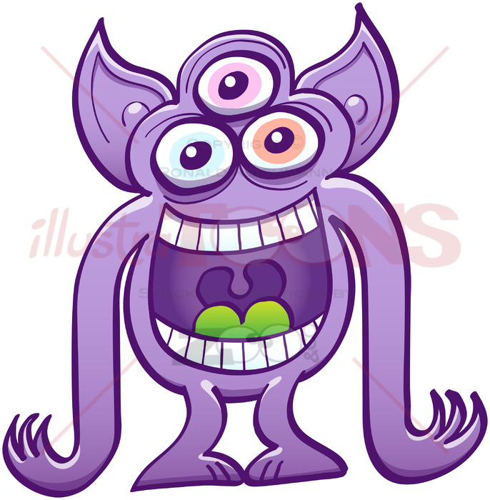 graphic royalty free download Aliens clipart three eyed. Alien having fun by.