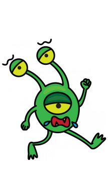 graphic royalty free download How to Draw a Green Alien