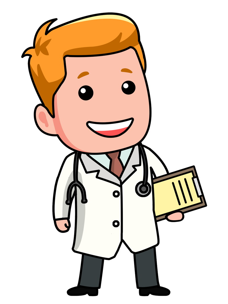 transparent library Kids medicine clipart. Doctor cartoon clip art.