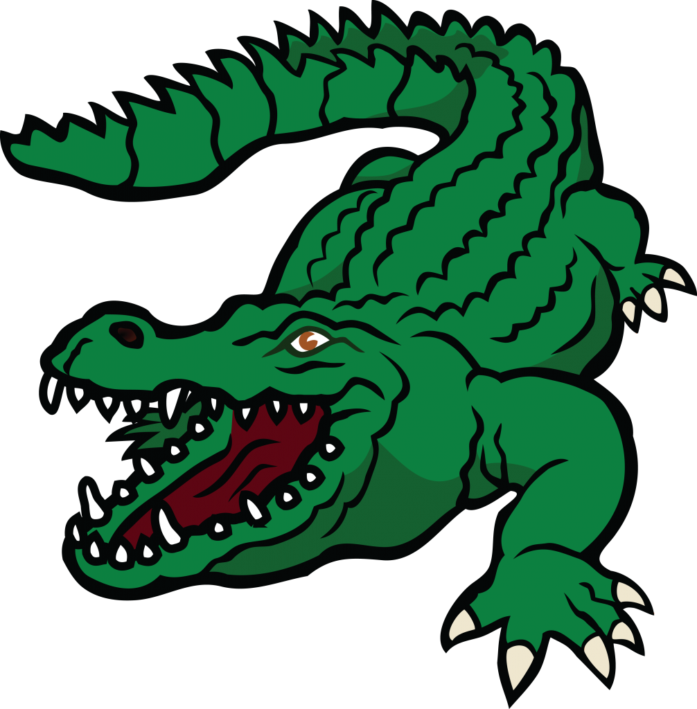 library Alligator clipart. Transparent background free on