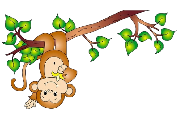 clip art royalty free download Curious george clipart tree. Cute funny cartoon baby