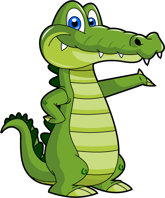 picture transparent download Cute baby library free. Alligator clipart