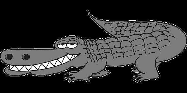 graphic royalty free stock Clipartblack com animal free. Alligator clipart cartoon.