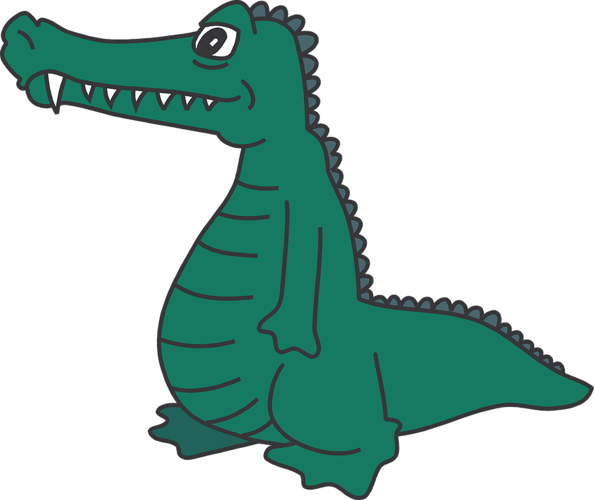 banner black and white stock Alligator clipart cartoon. Free on dumielauxepices net.