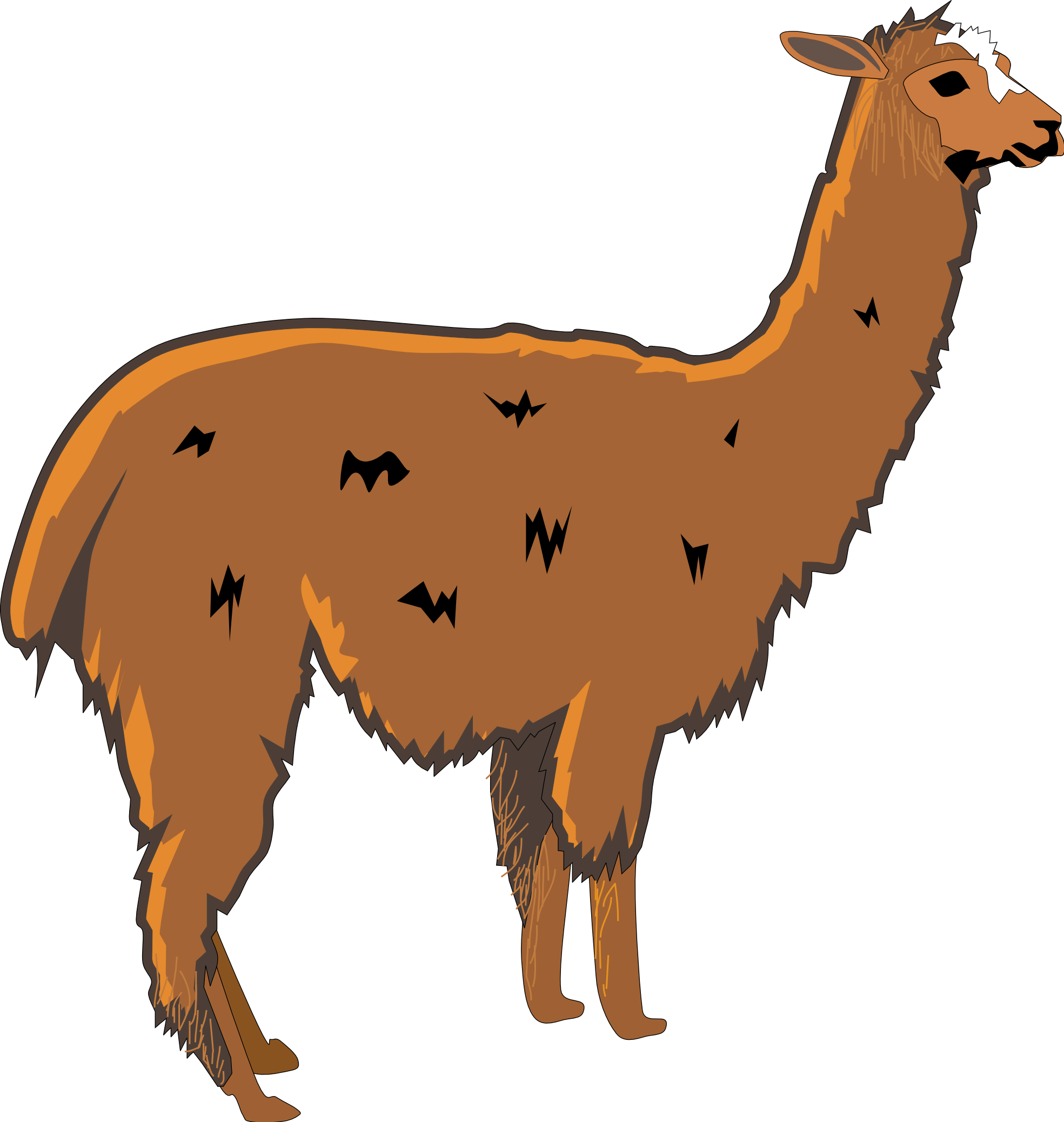 graphic freeuse library Llama clipart black and white. Alpaca panda free images.