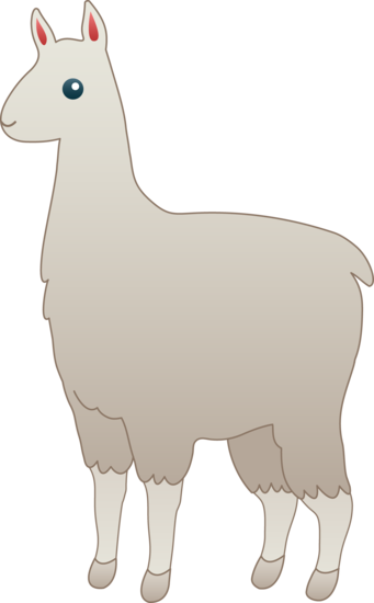 graphic library Alpaca Clipart