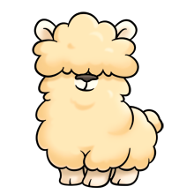 picture transparent stock It s so fluffy. Alpaca clipart