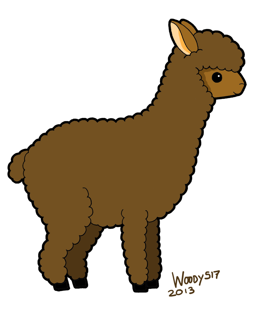 svg royalty free download Alpaca clipart animated. Free download best on.