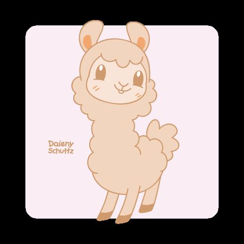 svg library download Kawaii clipart alpaca. By daieny alpacas sao