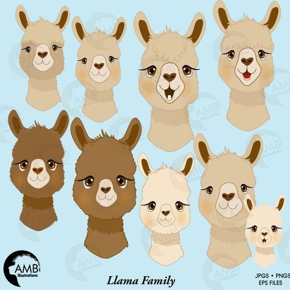 picture Alpaca clipart face. Llama faces for .