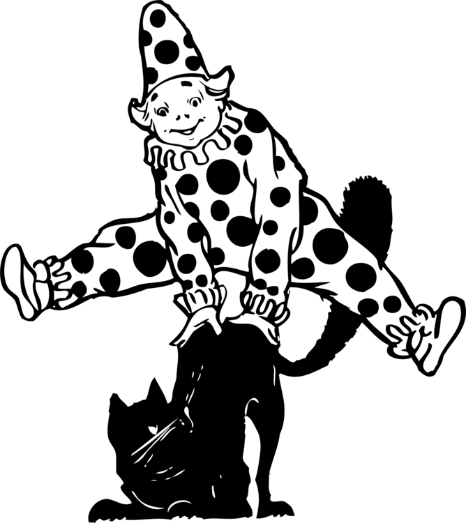 svg black and white download Evil clown Circus Drawing Humour free commercial clipart