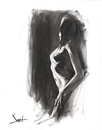 svg stock Drawing charcoal figure. Amazon com art print