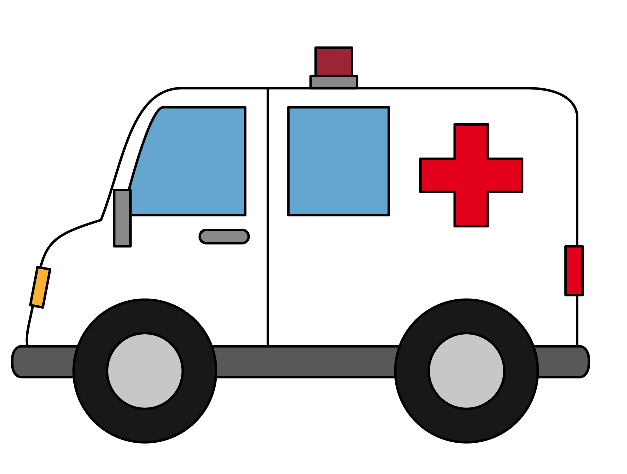 vector black and white download . Ambulance clipart.