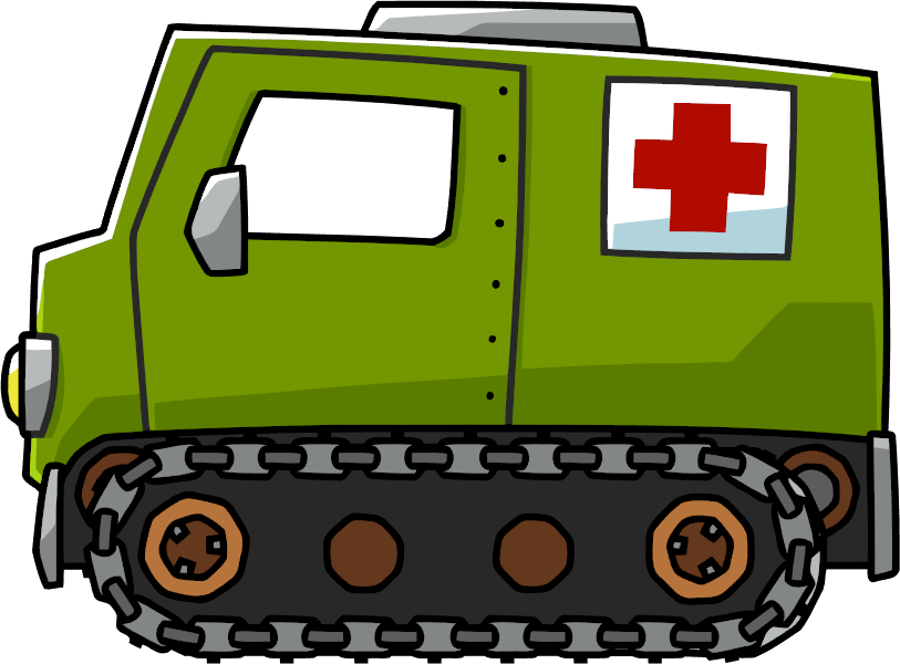 clipart black and white library Ambulance clipart ambulance sound. Armored scribblenauts wiki fandom.