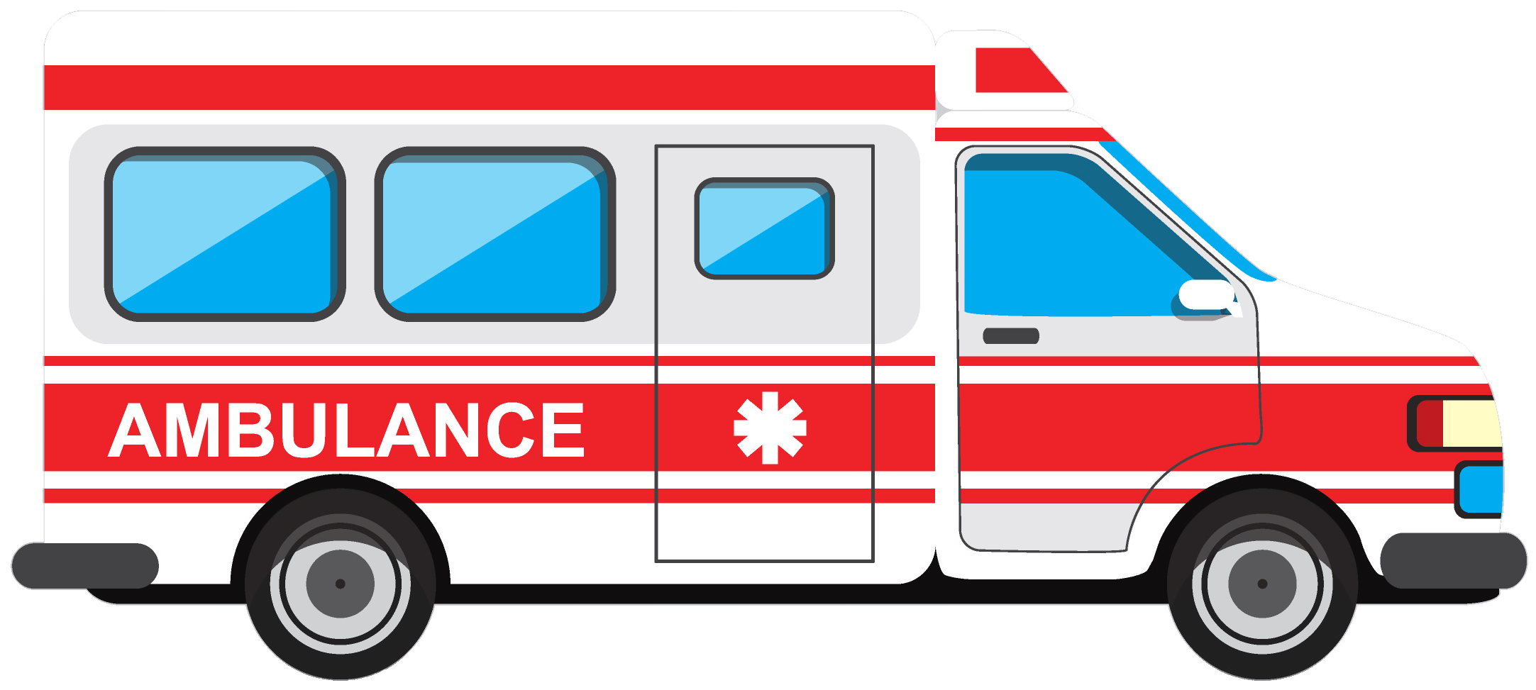 clipart black and white library Emergency clipart community vehicle