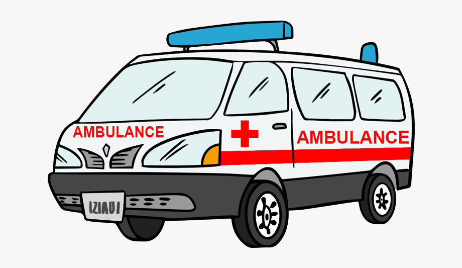 graphic royalty free stock Svg black and white. Ambulance clipart cute.