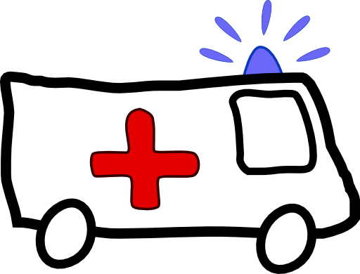 image black and white Ambulance Clipart