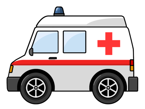 black and white library Ambulance Clipart Png