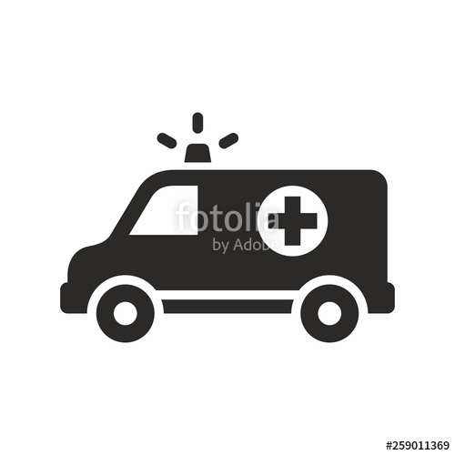 jpg black and white Icon stock image and. Ambulance vector
