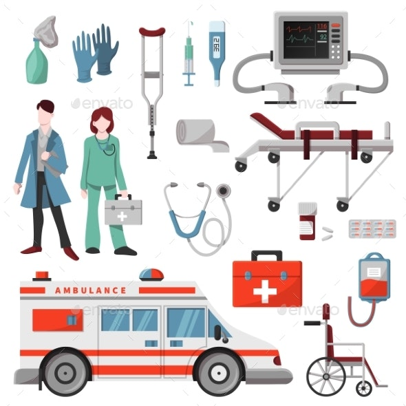 png download Ambulance vector. Doctor character car