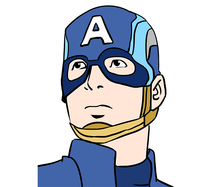 graphic free download How to Draw Captain America in a Few Easy Steps