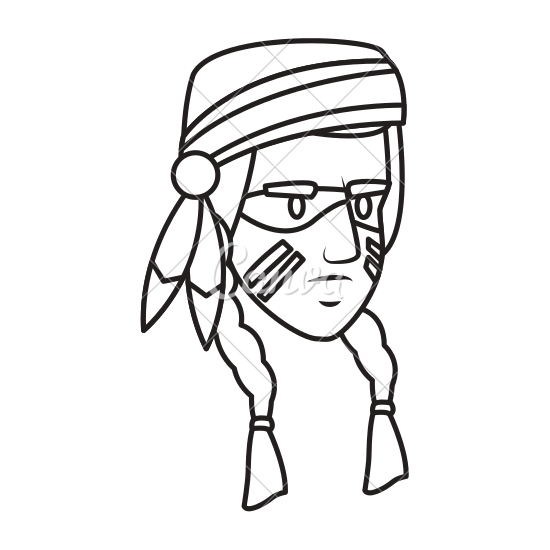clipart library Indian Face Drawing at GetDrawings