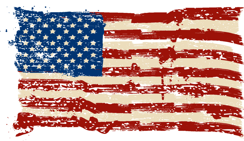 clipart freeuse stock American flag grunge png