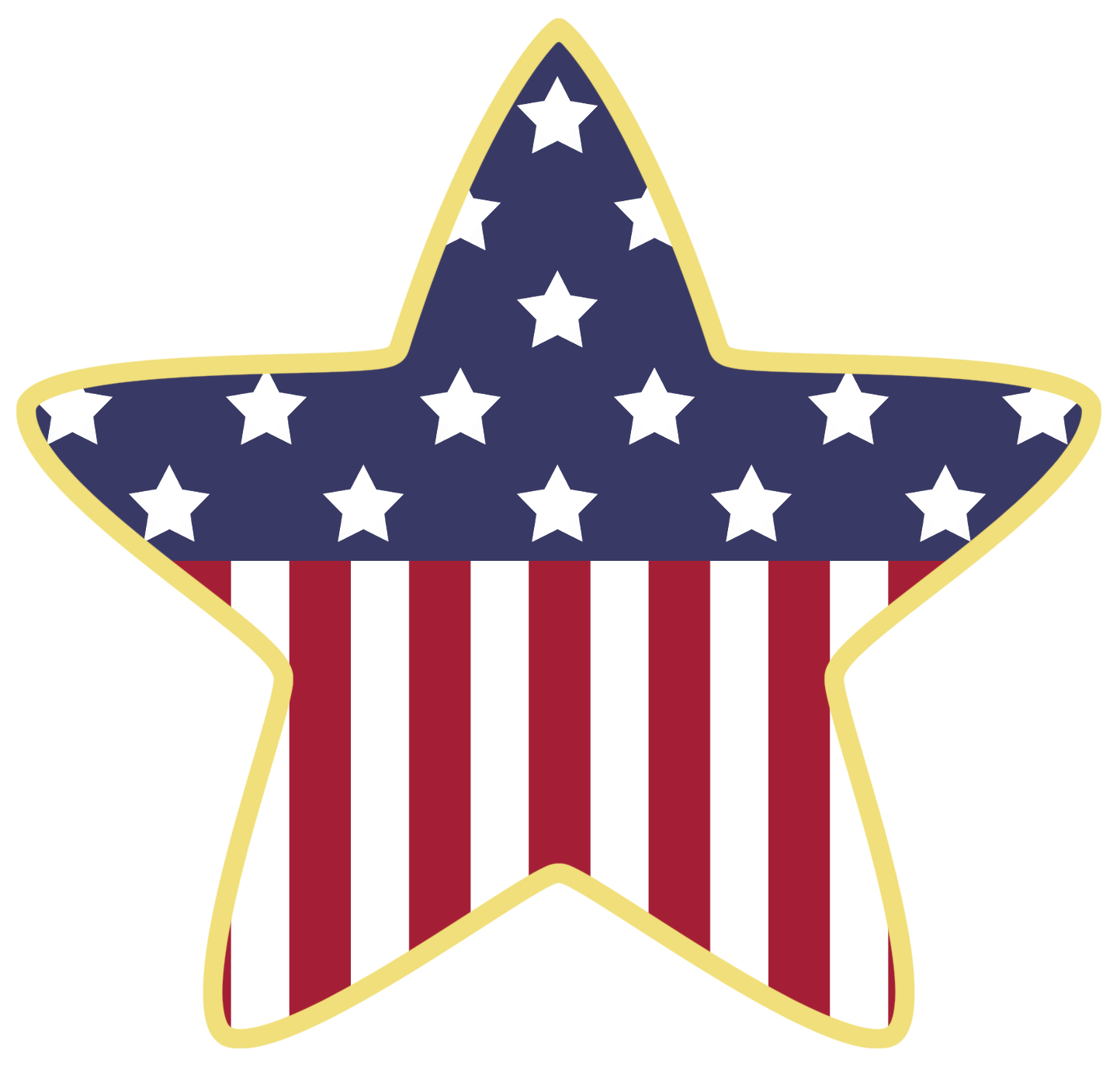 clip transparent American clipart. Star decoration png gallery