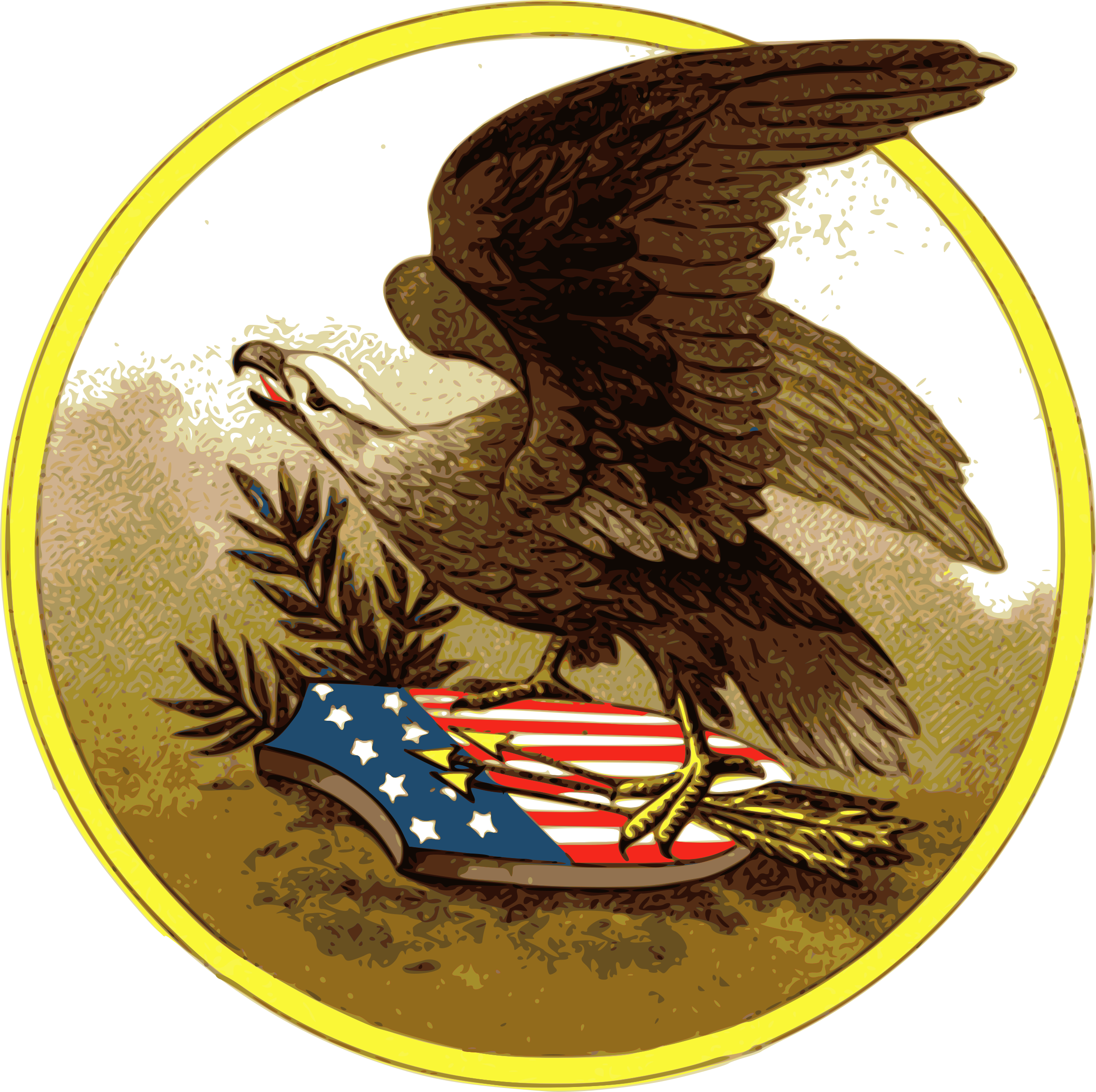 vector library American big image png. Banners clipart eagle.