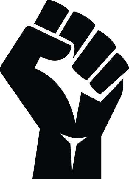 picture royalty free download  ga stylized clenched. Protest drawing fist
