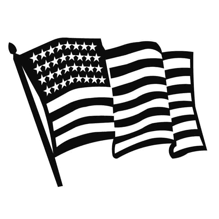 svg black and white stock Free clip art download. American flag black and white clipart