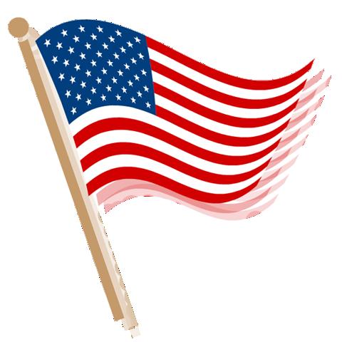 clip freeuse waving american flag clip art