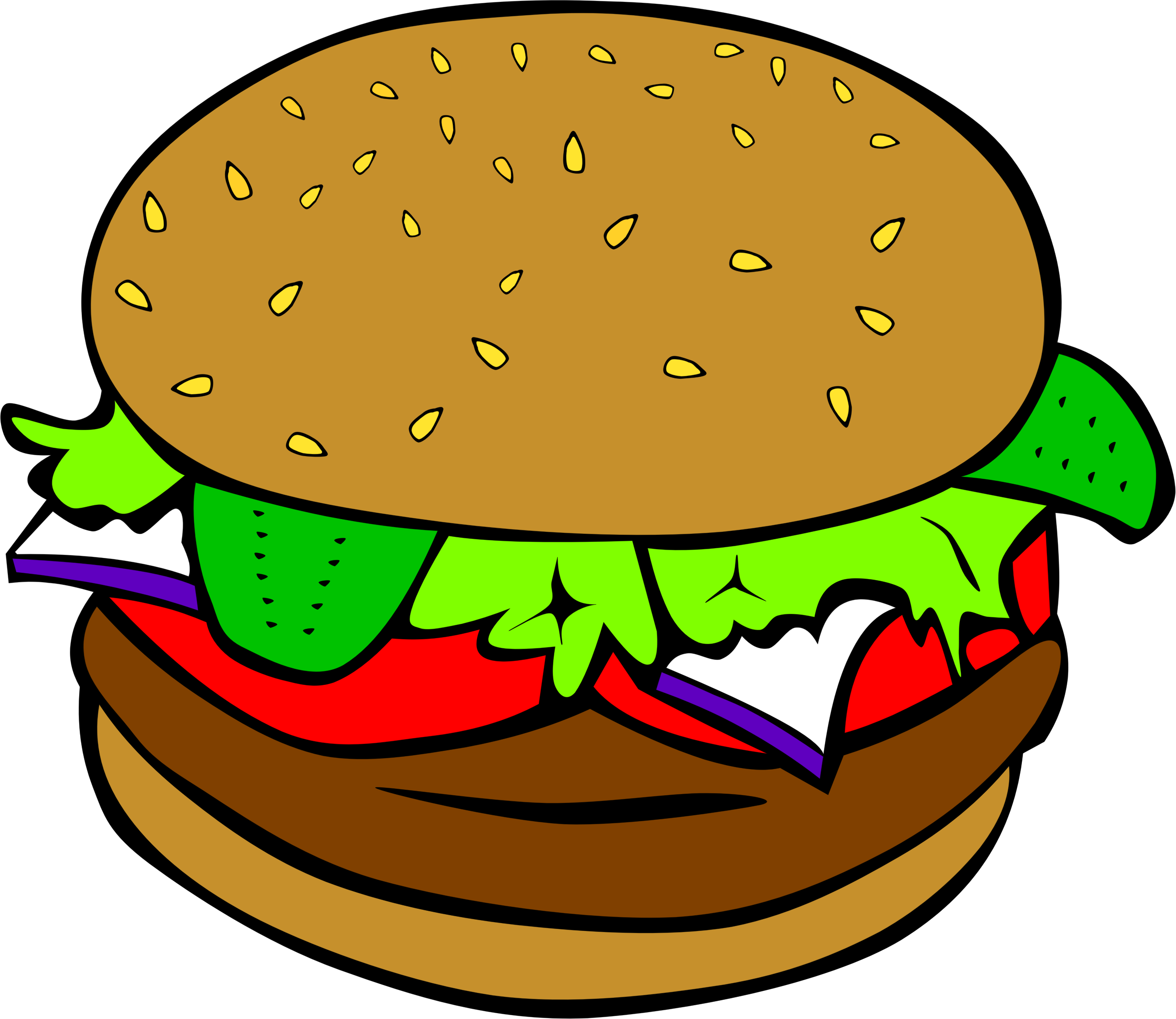 clip art freeuse library Clipart fast food lunch. Vector burger minimalist