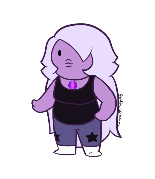 banner black and white stock Chibi Amethyst by AlwazaCaliGirl on DeviantArt