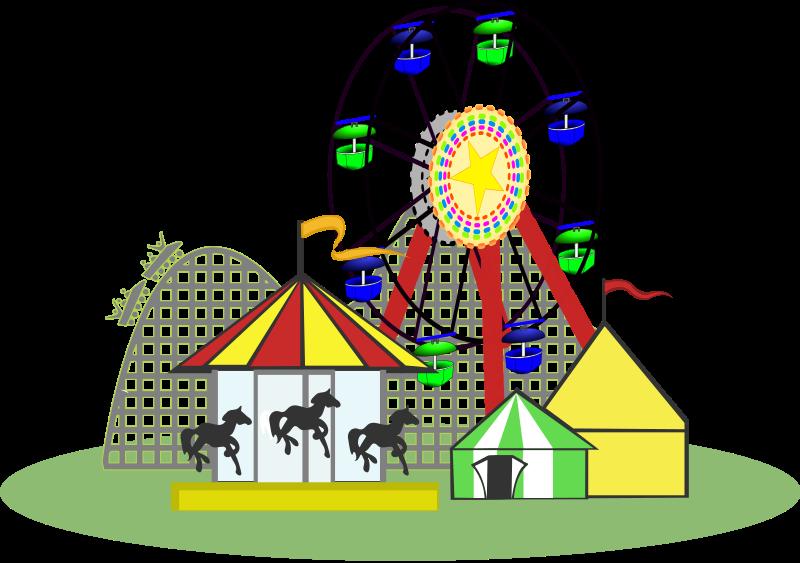 vector Amusement Park Clipart Map Family amusement park clipart