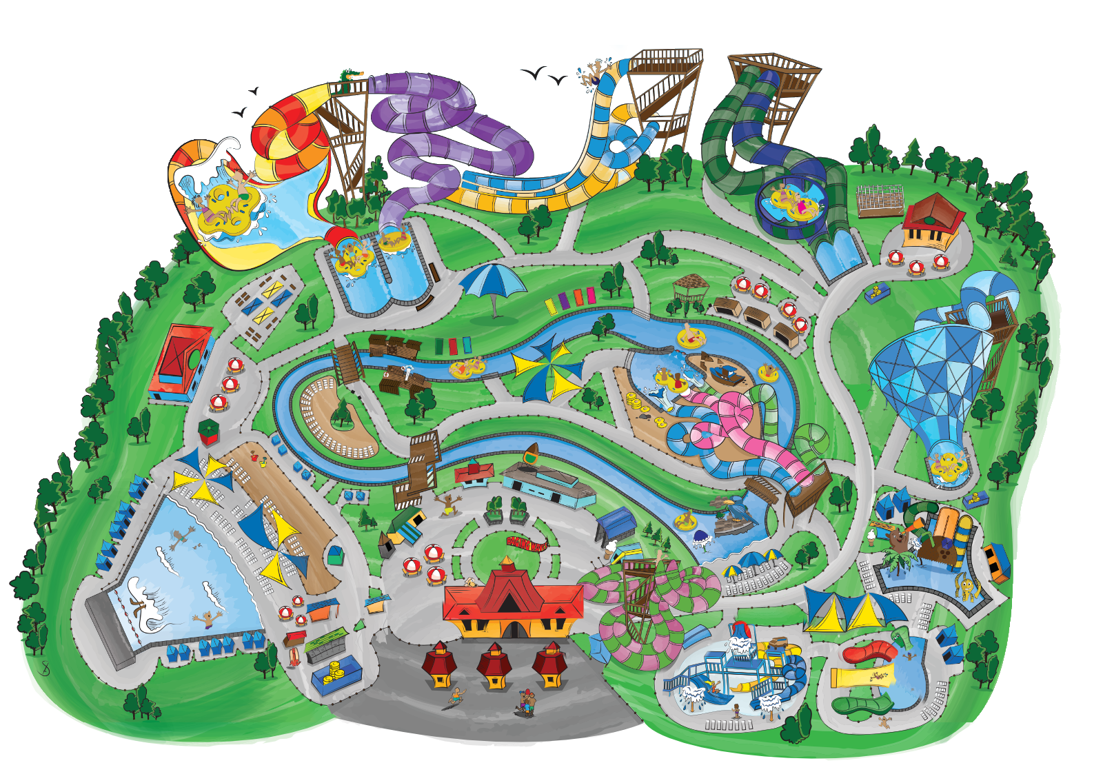 vector royalty free download Raging waves illinois largest. Amusement clipart parke.