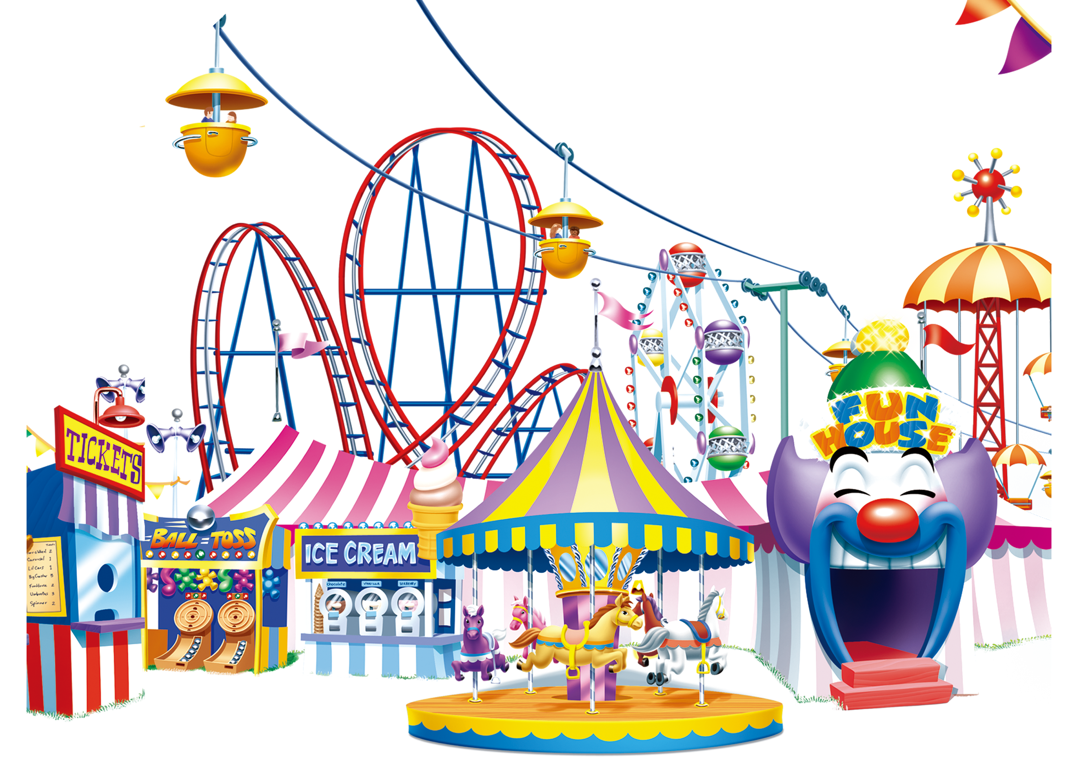 jpg free Carousel ride clipart. Amusement park happy transprent.