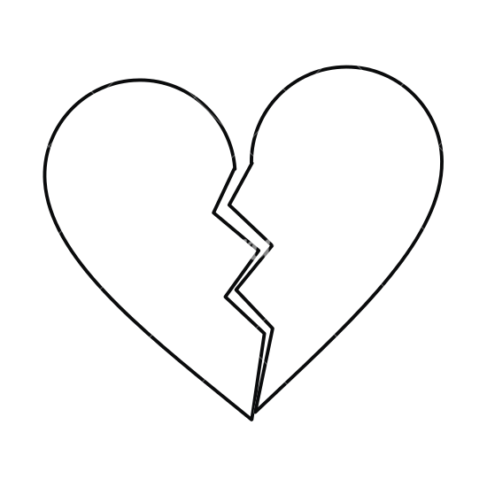 image black and white download Heart Drawing Outline at GetDrawings