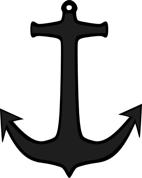 transparent stock Simple anchor clip free. Vector anchors art