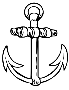 download Vector anchors black and white. Anchor clip art at