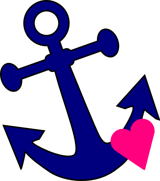 image freeuse download Anchor With Heart Clip Art at Clker