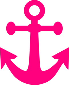 svg royalty free library Hot Pink Anchor Clip Art at Clker